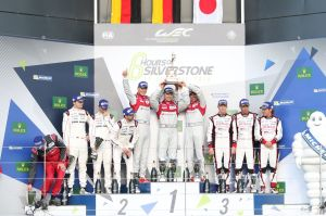 The Podium at the 6 Hours of Silverstone - Silverstone Circuit - Towcester, Northamptonshire - UK