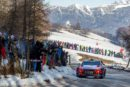 Thierry Neuville ended Saturday's schedule in second, 4.3-seconds from rally leader Sébastien Ogier