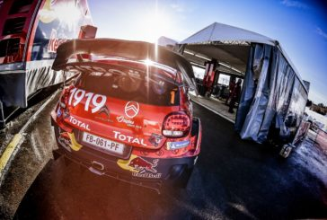 The C3 WRC heads for the clouds