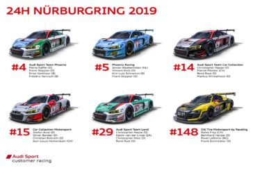 Audi Sport customer racing shoots for fifth victory at the Nürburgring