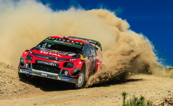 The C3 WRC tackles the scorching and twisty Sardinian roads