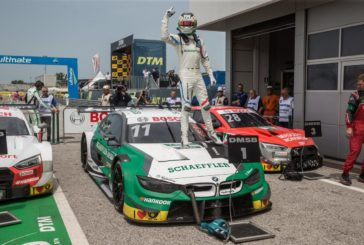 Marco Wittmann wins race five of the DTM season from last place on the grid