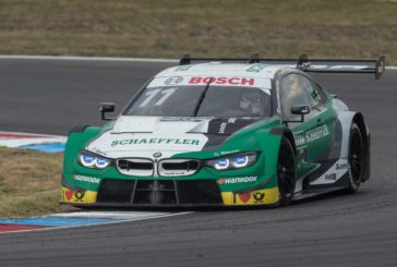 Four BMW M4 DTM cars in the points on Saturday at the Lausitzring