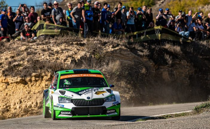 Jan Kopecký and Kalle Rovanperä crown season for Škoda by securing the WRC 2 Pro manufacturers' title