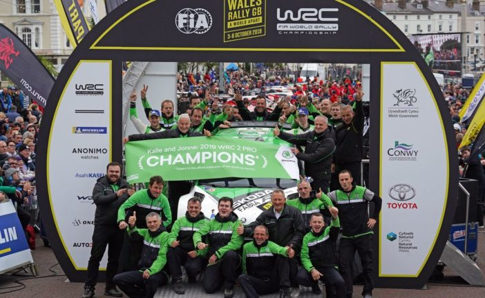 Game, set and WRC 2 Pro titles* for Škoda's Kalle Rovanperä and Jonne Halttunen