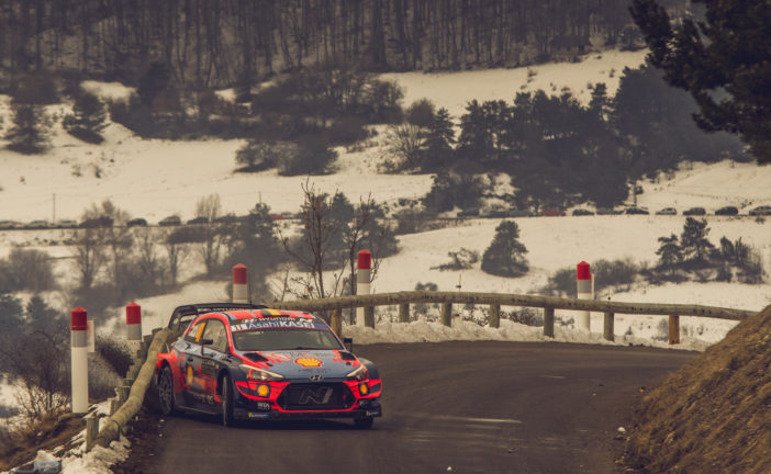 WRC – Hyundai Motorsport holds third and fourth positions at the end of the penultimate day of Rallye Monte-Carlo